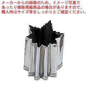 【まとめ買い10個セット品】 EBM 18-8 手造り業務用 抜型 5Pcs 秋 ギザ紅葉