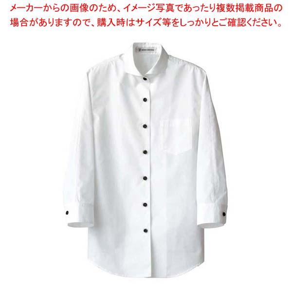 【まとめ買い10個セット品】 女性用七分袖シャツ CH4427-0 ホワイト 15号