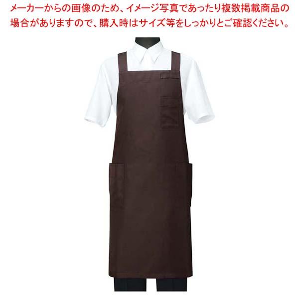 【まとめ買い10個セット品】 エプロン CT2566-6 ブラウン L
