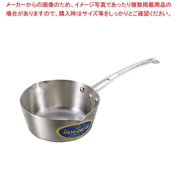 【まとめ買い10個セット品】 ニューキングデンジ 雪平鍋(目盛付)15cm【 IH・ガス兼用鍋 】