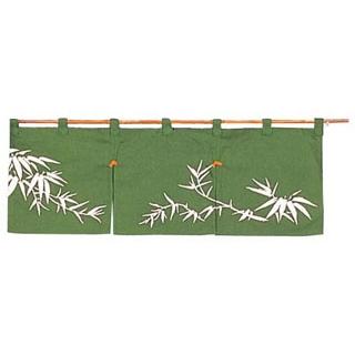 【まとめ買い10個セット品】 若竹 のれん N110-01 緑 850×300