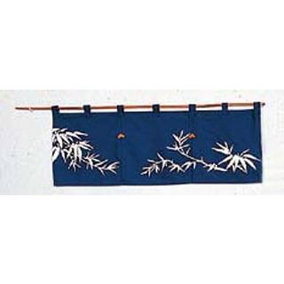 【まとめ買い10個セット品】 若竹 のれん N110-01 紺 850×300【 店舗備品・インテリア 】