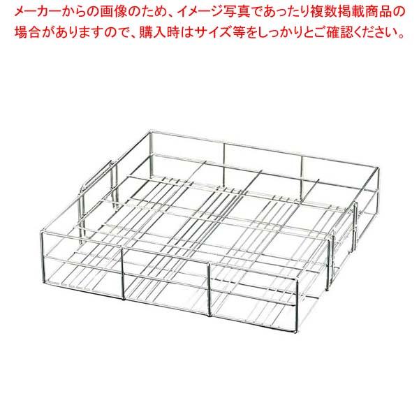EBM 18-8 茶わん蒸しラック(スライド取手付)39cm用