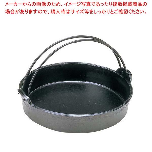 【まとめ買い10個セット品】 アルミ すきやき鍋 ツル付 18cm【 卓上鍋・焼物用品 】