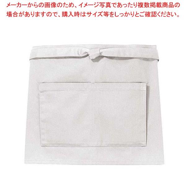 【まとめ買い10個セット品】 前掛け(短)KE0010-2 灰色