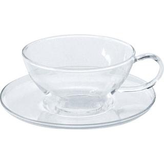 【まとめ買い10個セット品】 セレック ガラスカップ&ソーサー クリア GCS-10K