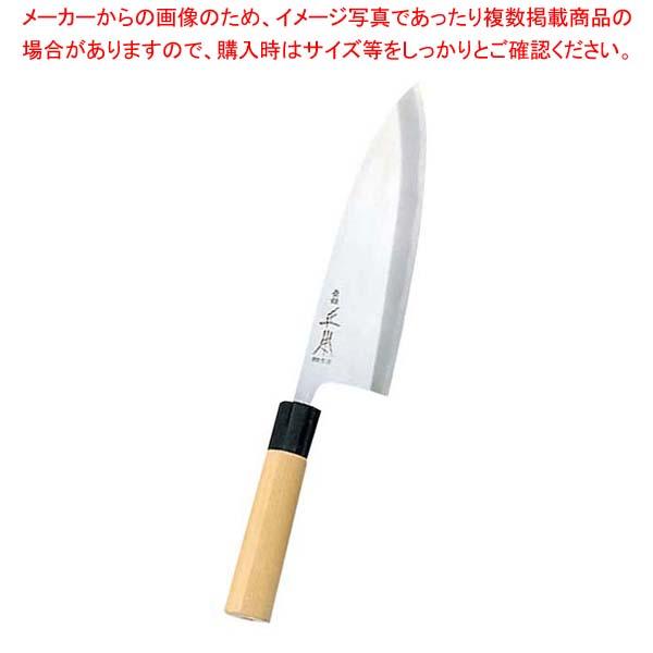 正本 本霞(玉白鋼)本出刃庖丁 15cm KS2015【 庖丁 】