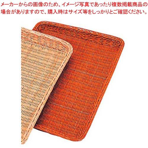 【まとめ買い10個セット品】 籐製 浅型パンカゴ Y-1-CH 420×295×H30