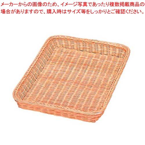 【まとめ買い10個セット品】 籐製 浅型パンカゴ Y-4-WH 400×300×H40
