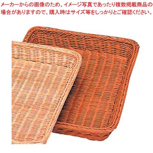 【まとめ買い10個セット品】 籐製 浅型パンカゴ Y-4-CH 400×300×H40