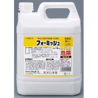 【まとめ買い10個セット品】 アルボース 食品工業用泡除菌・洗浄剤 フォーミッシュ 4kg