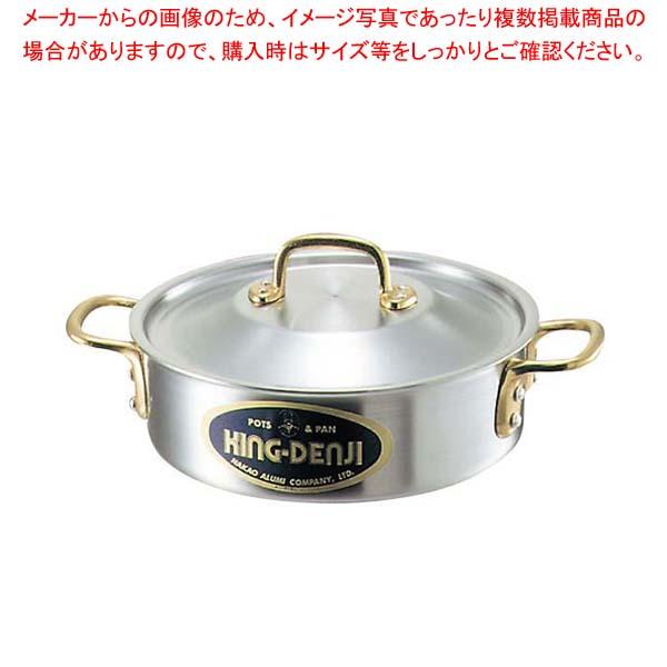 【まとめ買い10個セット品】 キングデンジ 外輪鍋(目盛付)30cm【 IH・ガス兼用鍋 】