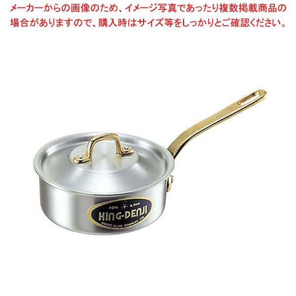 【まとめ買い10個セット品】 キングデンジ 浅型片手鍋(目盛付)30cm【 IH・ガス兼用鍋 】