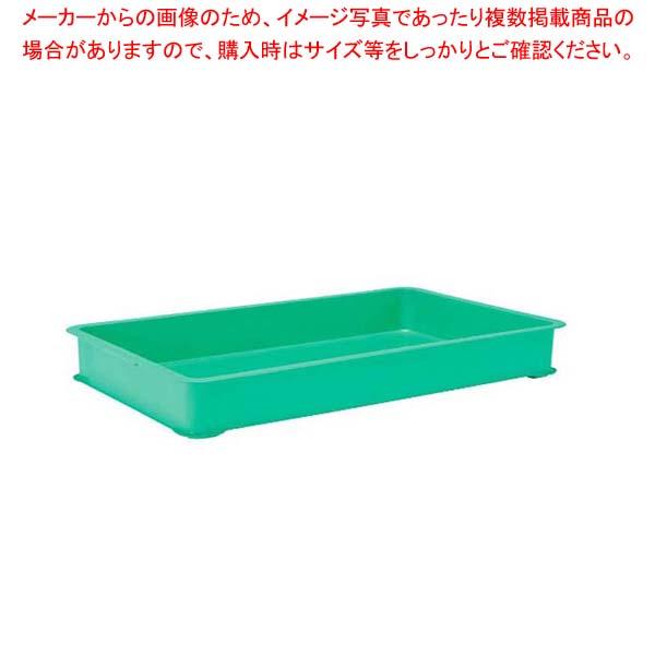 【まとめ買い10個セット品】 EBM PPカラー番重 B型 特大 グリーン(サンコー製)【 運搬・ケータリング 】