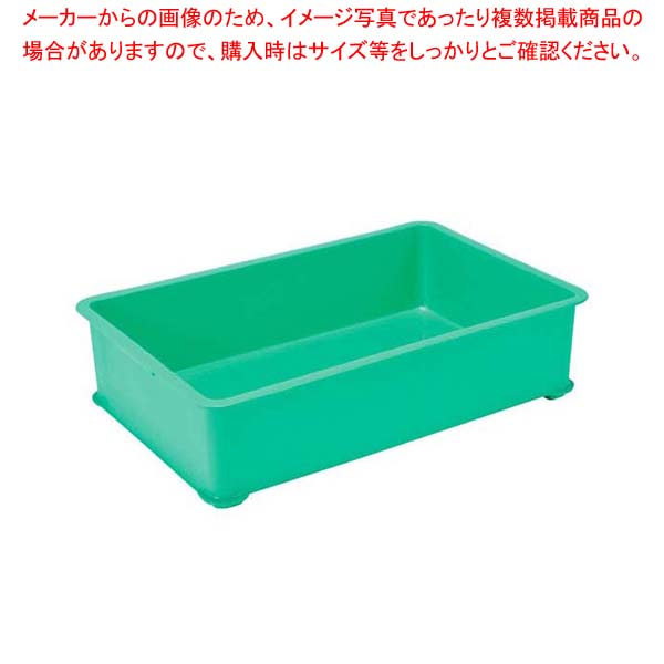 【まとめ買い10個セット品】 EBM PPカラー番重 A型 大 グリーン(サンコー製)【 運搬・ケータリング 】
