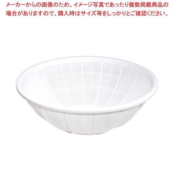 【まとめ買い10個セット品】 サンコー ザル 大 ホワイト