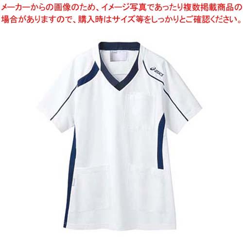 【まとめ買い10個セット品】 アシックス メディカルウェア CHM301-0109 ホワイト×ネイビー L