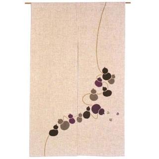【まとめ買い10個セット品】 ひょうたんからこま のれん 527-06M 紫 850×1350