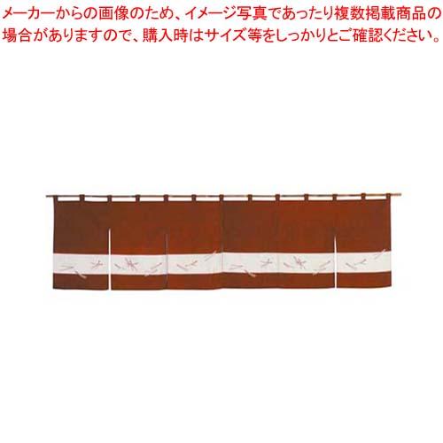 【まとめ買い10個セット品】 のれん 松葉ちらし 118-10 えび茶 1700×450【 店舗備品・インテリア 】