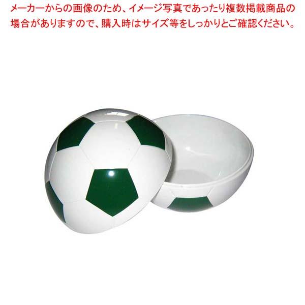 【まとめ買い10個セット品】 お子様ランチ皿 サッカーボール 小(仕切なし)グリーン