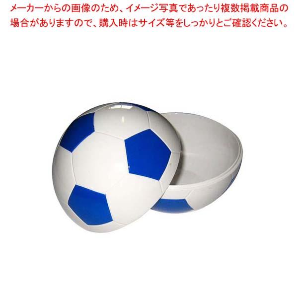 【まとめ買い10個セット品】 お子様ランチ皿 サッカーボール 小(仕切なし)ブルー