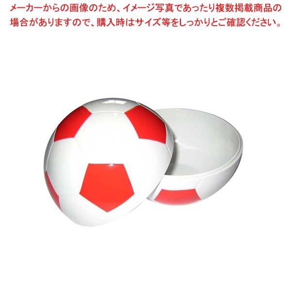 【まとめ買い10個セット品】 お子様ランチ皿 サッカーボール 小(仕切なし)レッド