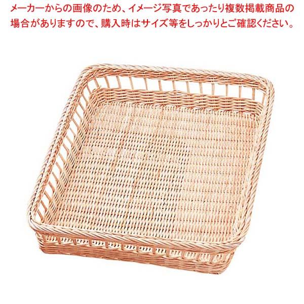【まとめ買い10個セット品】 籐 浅型かご Y-10N 300×460×H60