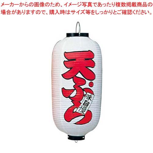 【まとめ買い10個セット品】 ビニール提灯 223 天ぷら 9号長(白地赤文字)