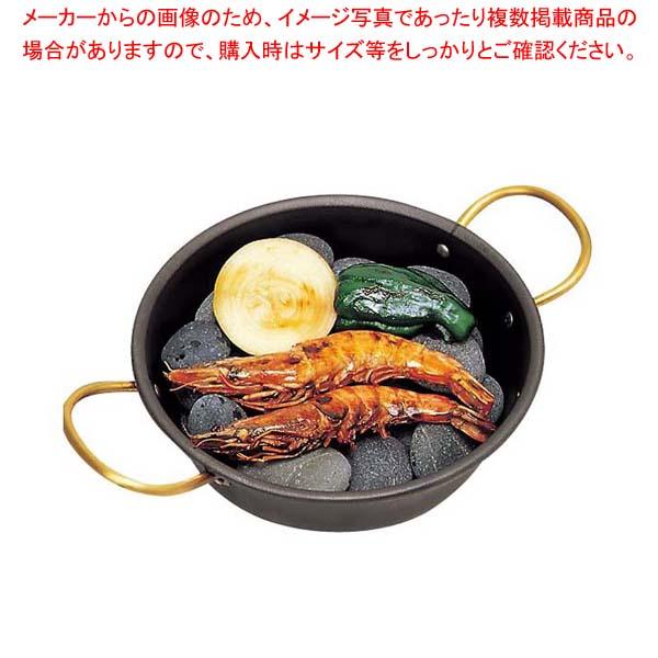 【まとめ買い10個セット品】 鉄 海石鍋 15cm 両手(石無し)