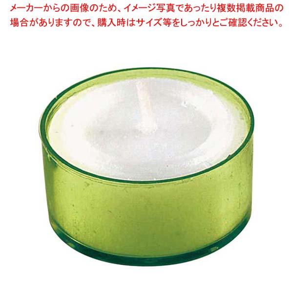 【まとめ買い10個セット品】 カラークリアカップティーライト(24個入)S8351 Gグリーン【 卓上小物 】