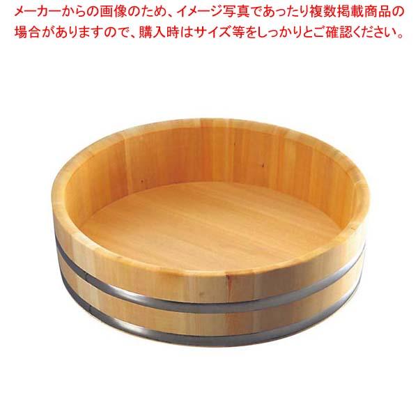 さわら 特上飯台 ステンタガ底竹巻 54cm 3升 34-45【 すし・蒸し器・セイロ類 】