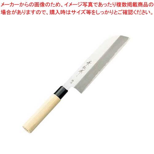 0435ページ 14番 業務用 兼松作 特撰 鎌型薄刃庖丁 18cm【 庖丁 】