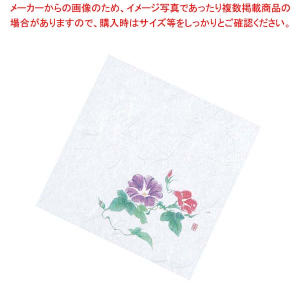 【まとめ買い10個セット品】 盛彩 ニュー四季懐紙 4寸(100枚入)NS-107 朝顔