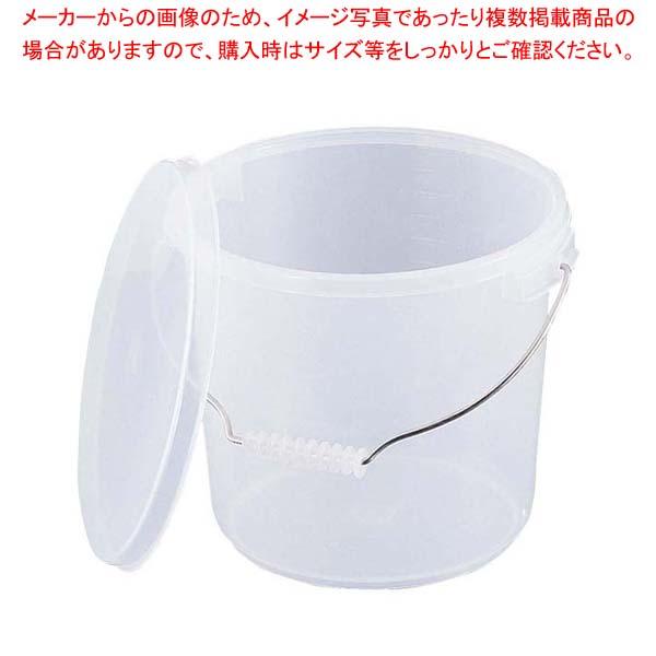 【まとめ買い10個セット品】 PPバケツ 10L PO-22A 本体 乳白色【 水切り・ザル 】