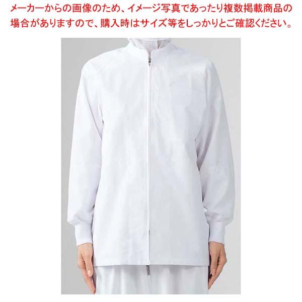 【まとめ買い10個セット品】 男女兼用ブルゾン(長袖)8-421 白 LL
