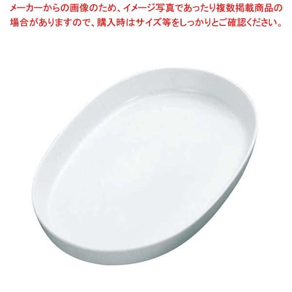 【まとめ買い10個セット品】 白磁オーブン オーバルベ-キング グラタン皿 13 3/4吋