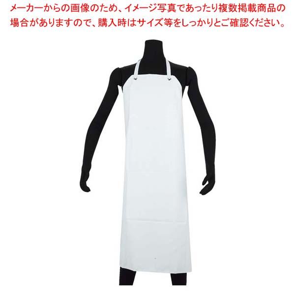【まとめ買い10個セット品】 NBR 耐油ゴムエプロン胸付 AF-7000 M ホワイト【 ユニフォーム 】