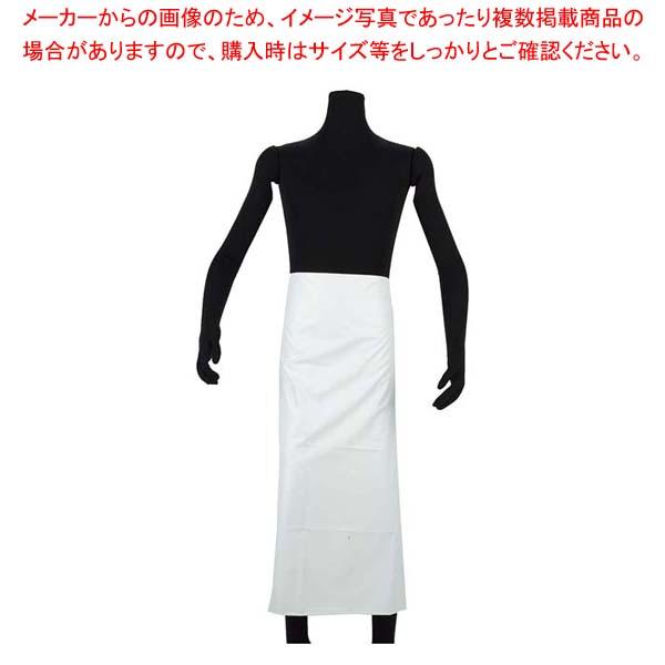 【まとめ買い10個セット品】 NBR 耐油ゴムエプロン腰下 AF-7100 L ホワイト