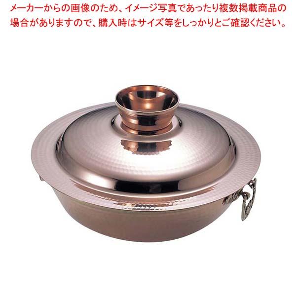 【まとめ買い10個セット品】 EBM 銅 槌目入 水たき鍋 24cm【 卓上鍋・焼物用品 】