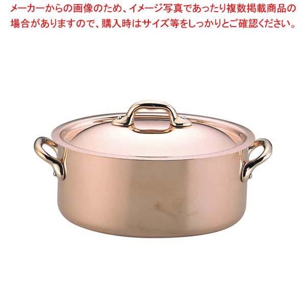 ムヴィエール カパーイノックス オーバルココット蓋付 20cm 6721(6521)【 ガス専用鍋 】