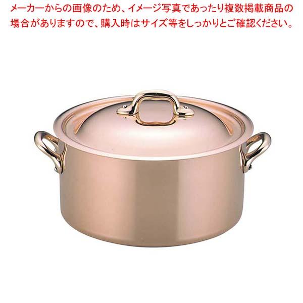 69a1c8636288 モービル カパーイノックス 半寸胴鍋(蓋付)6522 24cm【 半寸胴鍋 寸胴鍋 ...