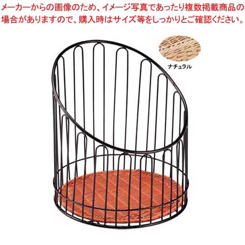 【まとめ買い10個セット品】 バゲットスタンド丸 DS508 高 ナチュラル φ355×H400
