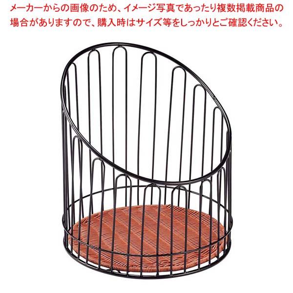 【まとめ買い10個セット品】 バゲットスタンド丸 DS508 高 ブラウン φ355×H400
