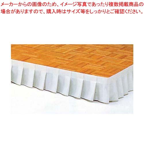 【まとめ買い10個セット品】 ステージ用スカート ホワイト NSC-2A 画鋲止 1m単位 【 メーカー直送/代金引換決済不可 】