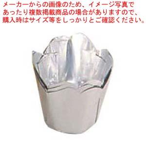 【まとめ買い10個セット品】 アルミケース チューリップ型(100枚入)50号 銀