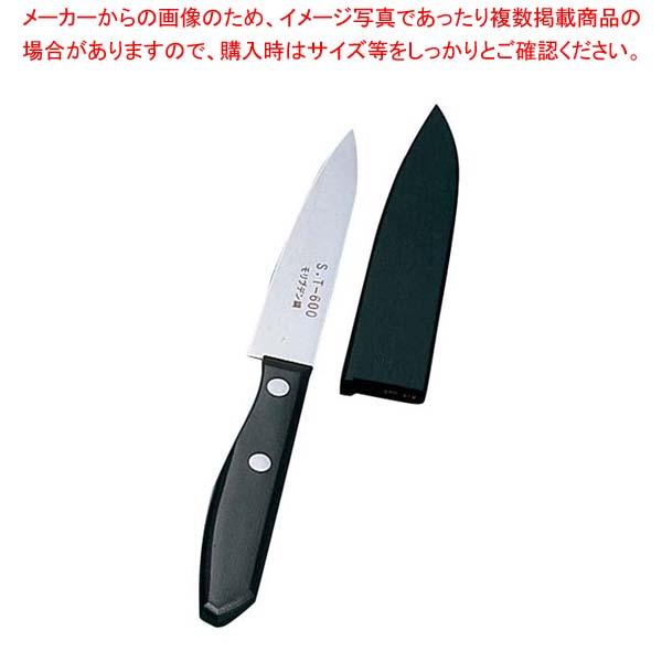 【まとめ買い10個セット品】 木サヤ付 フルーツナイフ 剣型 ST-600 10.4cm【 庖丁 】