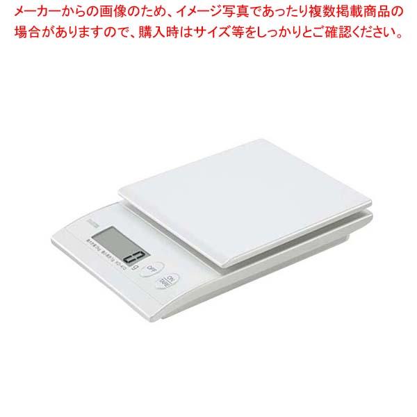 【まとめ買い10個セット品】 タニタ デジタルクッキングスケール 2kg KD-410(WH パールホワイト)【 ハカリ 】
