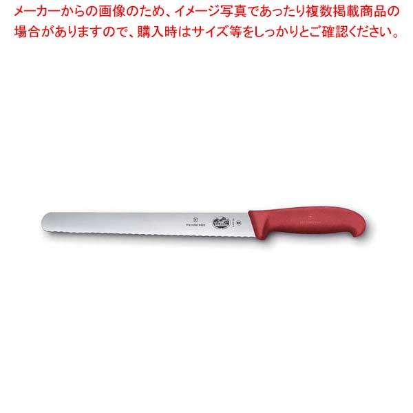 【まとめ買い10個セット品】 ビクトリノックス ウェーブナイフ 赤 5.4231.30GB 30cm【 庖丁 】