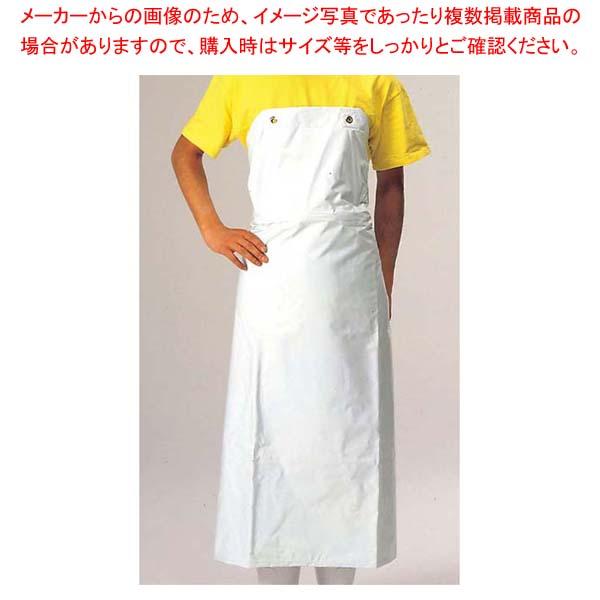 【まとめ買い10個セット品】 ワンタッチ 前掛 胸付 白 900×1150【 ユニフォーム 】