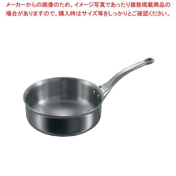 デバイヤー アフィニティ ソテーパン片手(蓋無)3730-24cm【 IH・ガス兼用鍋 】